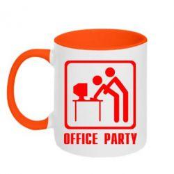 Кружка двухцветная Office Party - FatLine