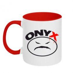 Кружка двухцветная Onyx - FatLine