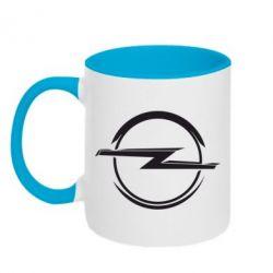 Кружка двухцветная Opel Log - FatLine