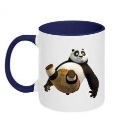 Кружка двухцветная Падающая Панда - FatLine