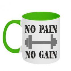 Кружка двухцветная Pain Gain - FatLine