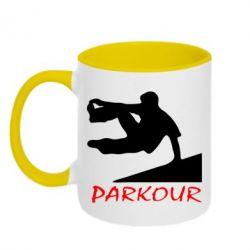Кружка двухцветная Parkour Run - FatLine