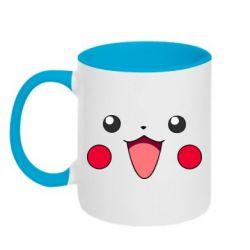 Кружка двухцветная Pikachu Smile - FatLine