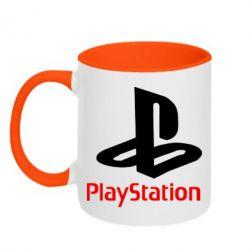 Кружка двухцветная PlayStation - FatLine