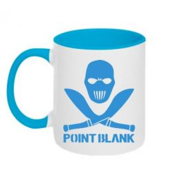 Кружка двухцветная Point Blank - FatLine