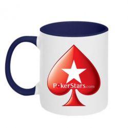 Кружка двухцветная Poker Stars Game - FatLine