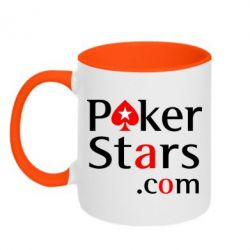Кружка двухцветная Poker Stars - FatLine