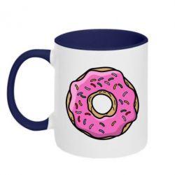 Кружка двухцветная Пончик Гомера - FatLine