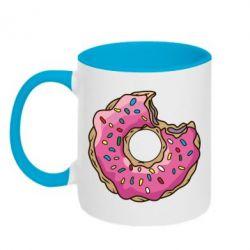 Кружка двухцветная Пончик - FatLine