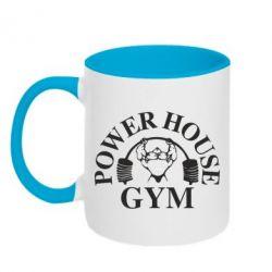 Кружка двухцветная Power House Gym - FatLine