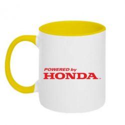 Кружка двухцветная Powered by HONDA - FatLine