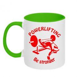 Кружка двухцветная Powerlifting be Stronger - FatLine