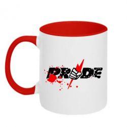 Кружка двухцветная Pride Logo - FatLine