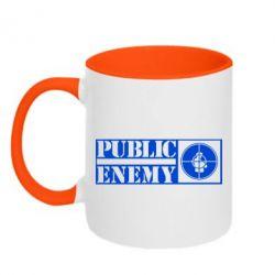 Кружка двухцветная Public Enemy - FatLine