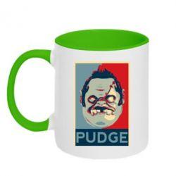 Кружка двухцветная Pudge aka Obey - FatLine