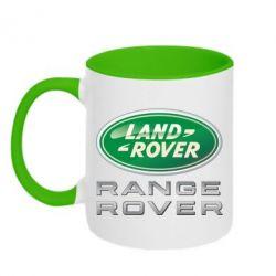 Кружка двухцветная Range Rover Logo Metalic - FatLine