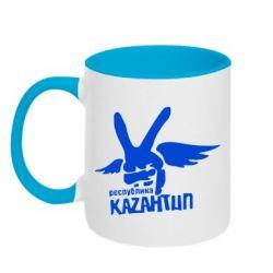 Кружка двухцветная Республика Казантип - FatLine