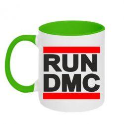 Кружка двухцветная RUN DMC - FatLine