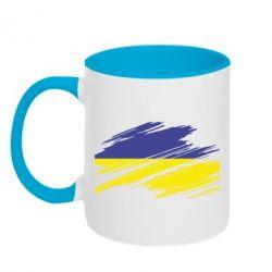 Кружка двухцветная Рваний прапор - FatLine