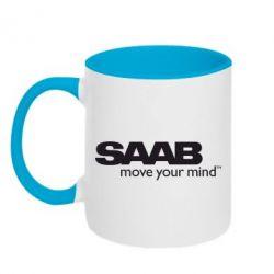 Кружка двухцветная SAAB - FatLine