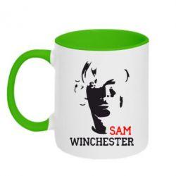 Кружка двухцветная Sam Winchester - FatLine