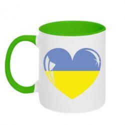 Кружка двухцветная Сердце України - FatLine