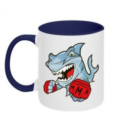 Кружка двухцветная Shark MMA - FatLine