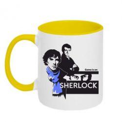 Кружка двухцветная Sherlock (Шерлок Холмс) - FatLine