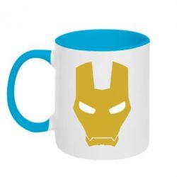 Кружка двухцветная Шлем Железного Человека - FatLine