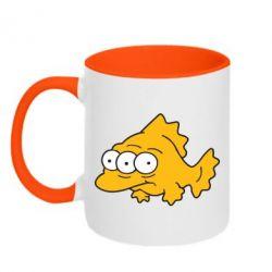 Кружка двухцветная Simpsons three eyed fish - FatLine