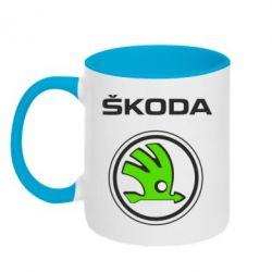Кружка двухцветная Skoda Bird - FatLine