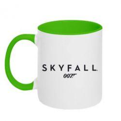 Кружка двухцветная Skyfall 007 - FatLine