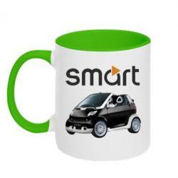 Кружка двухцветная Smart 450 - FatLine