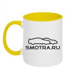 Кружка двухцветная Smotra.ru - FatLine