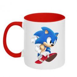 Кружка двухцветная Sonic 3d - FatLine