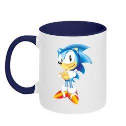 Кружка двухцветная Sonic - FatLine