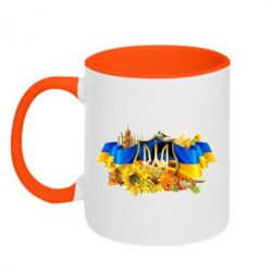 Кружка двухцветная Сонячна Україна - FatLine