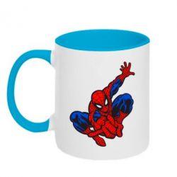 Кружка двухцветная Spiderman - FatLine