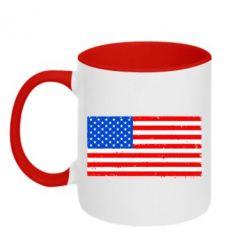 Кружка двухцветная США - FatLine