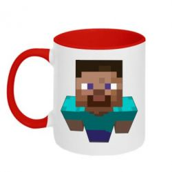 Кружка двухцветная Steve from Minecraft - FatLine