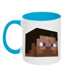 Кружка двухцветная Steve Minecraft - FatLine