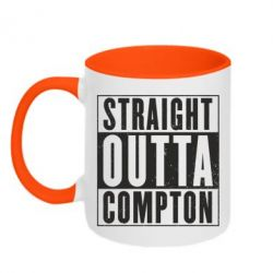 Кружка двухцветная Straight outta compton - FatLine
