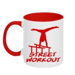 Кружка двокольорова Street workout - FatLine