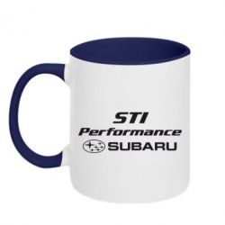 Кружка двухцветная Subaru STI - FatLine