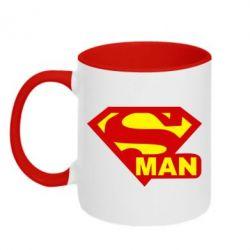 Кружка двухцветная Super Man - FatLine