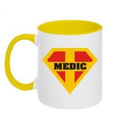 Кружка двухцветная Super Medic - FatLine
