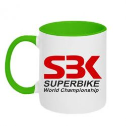 Кружка двухцветная Superbike World Championship - FatLine