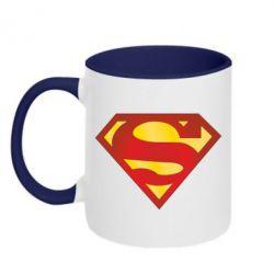 Кружка двухцветная Superman Classic - FatLine