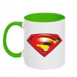 Кружка двухцветная Superman Emblem - FatLine