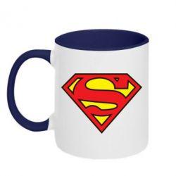 Кружка двухцветная Superman Symbol - FatLine